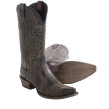 "Ariat Bright Lights Cowboy Boots - 12"", Snip Toe (For Women) in Rustic Black - Closeouts"
