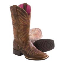 "Ariat Brilliance Cowboy Boots - 12"", Square Toe (For Women) in Sassy Brown - Closeouts"