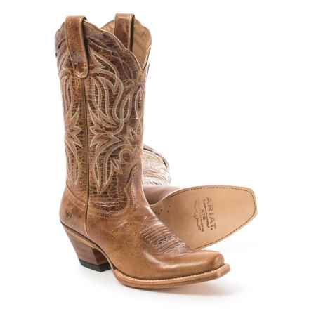 Ariat Bristol Cowboy Boots - D Toe (For Women) in Tan - Closeouts
