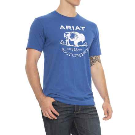 Ariat Buffalo Free T-Shirt - Short Sleeve (For Men) in Royal Heather - Overstock