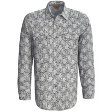 Ariat Cade Snap Front Western Shirt - Long Sleeve (For Men) in Cement - Closeouts