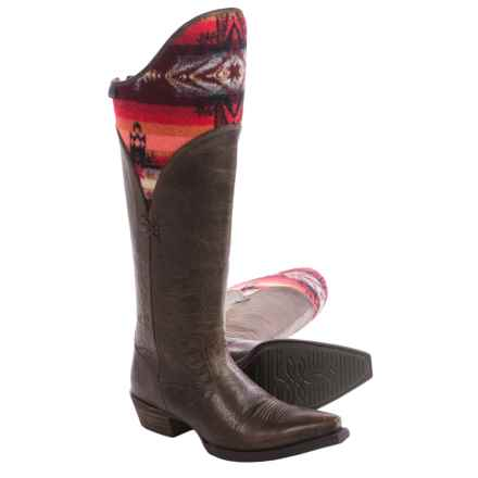 "Ariat Caldera Cowboy Boots - 17"", Snip Toe (For Women) in Wicker/Pendleton - Closeouts"