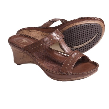 Ariat Cannes Sandals - Leather (For Women) in Burnished Brown