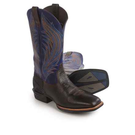 Ariat Catalyst Prime Cowboy Boots - Square Toe (For Men) in Bark/Blue - Closeouts