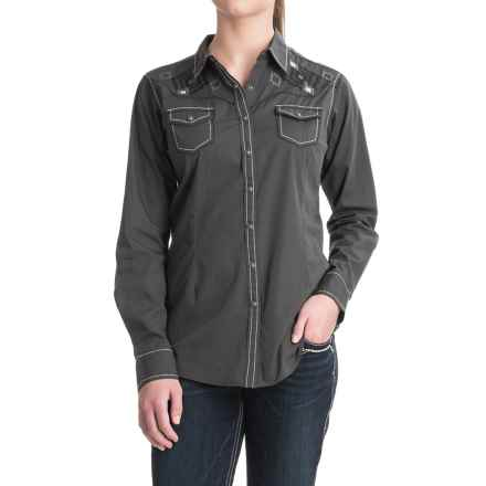 Ariat Charlotte Shirt - Snap Front, Long Sleeve (For Women) in Lava Beach - Closeouts