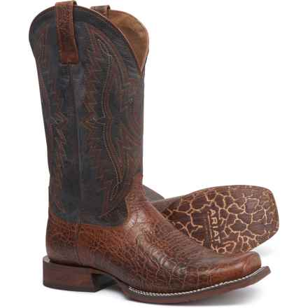 """Ariat Circuit Sidepass Cowboy Boots - 12"""", Square Toe (For Men) in Adobe Clay"""