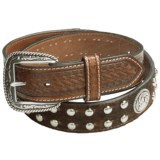 Ariat Concho and Basket-Weave Belt - Hair-On Leather (For Men)