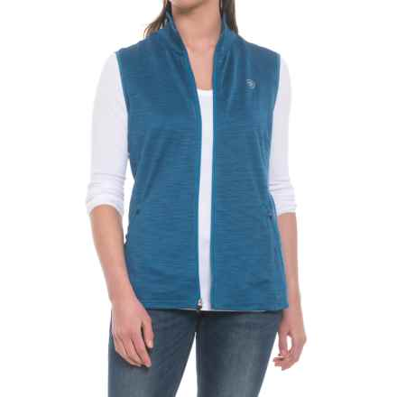 Ariat Conquest Stretch Tek Vest (For Women) in Rush Blue - Closeouts