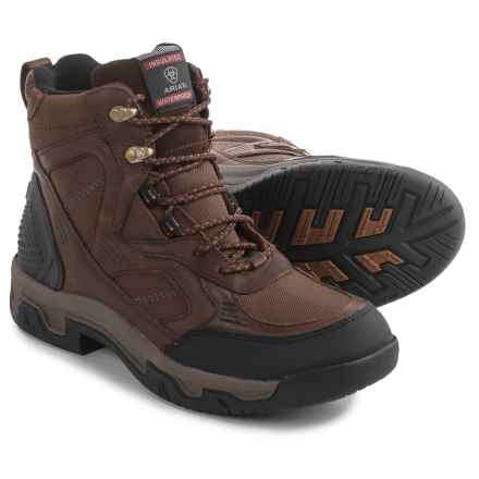 "Ariat Creston H2O Insulated Work Boots - Waterproof, 6"" (For Men) in Coffee - Closeouts"