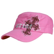 Ariat Cross Military Cap (For Women) in Hot Pink - Closeouts