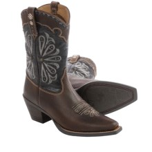 Ariat Daisy Cowboy Boots - Leather (For Women) in Brown Oiled/Midnight Blue - Closeouts