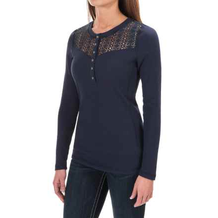 Ariat Daisy Thermal Shirt - Long Sleeve (For Women) in Navy Eclipse - Closeouts