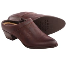 Ariat Dalton Clogs - Leather, Open Back (For Women) in Walnut - Closeouts