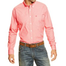 Ariat Dana Pro Series Western Shirt - Long Sleeve (For Men) in Coral - Closeouts