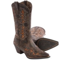 Ariat Dandy Cowboy Boots - Leather, Snip Toe (For Women) in Sassy Brown/Sand Hill Brown - Closeouts
