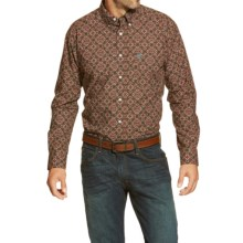 Ariat Dante Print Western Shirt - Button Front, Long Sleeve (For Men) in Brown - Closeouts