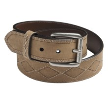 Ariat Diamond Classic Belt - Removable Buckle (For Men) in Distressed Brown - Closeouts