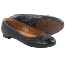 Ariat Dreamer Leather Flats (For Women) in Black Crinkle - Closeouts