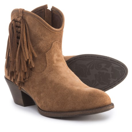 a5081d76ed24 Ariat Duchess Ankle Boots - Leather (For Women) in Dirty Tan Suede
