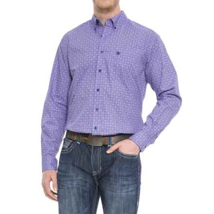 Ariat Emery Shirt - Long Sleeve (For Tall Men) in Azulene - Overstock
