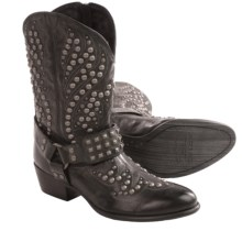 Ariat Epic Studded Cowboy Boots - Leather (For Women) in Vintage Black - Closeouts