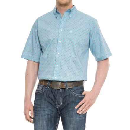 Ariat Falken Shirt - Short Sleeve (For Tall Men) in Blue Grotto - Overstock