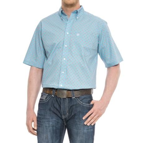 Ariat Falken Shirt - Short Sleeve (For Tall Men) in Blue Grotto