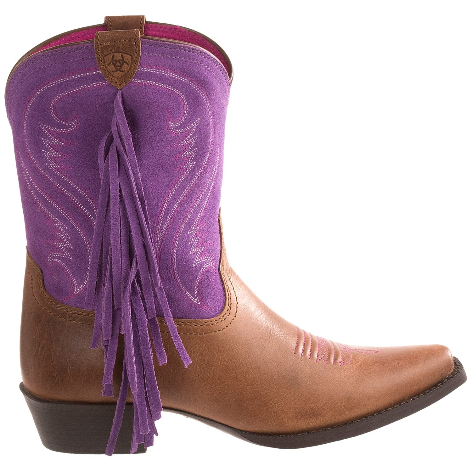 Ariat Fancy Cowboy Boots (For Kids and Youth Girls) 8262J ...
