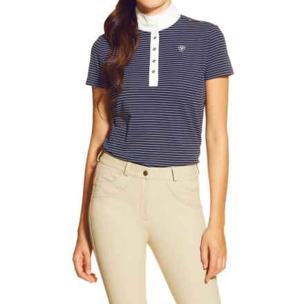 Ariat Fashion Aptos Shirt - Short Sleeve (For Women) in Navy Stripe - Closeouts