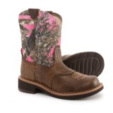 """Ariat Fat Baby Heritage Cowboy Boots - 8"""", Round Toe (For Women)"""