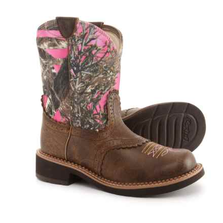 "Ariat Fat Baby Heritage Cowboy Boots - 8"", Round Toe (For Women) in Vintage Bomber/Pink Camo - Closeouts"