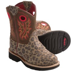 Ariat Fatbaby Cowgirl Cowboy Boots (For Kid and Youth Girls) in Leopard Print/Tan