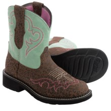 Ariat Fatbaby Heritage Harmony Cowboy Boots - Leather (For Women) in Jaguar Print/Mint - Closeouts