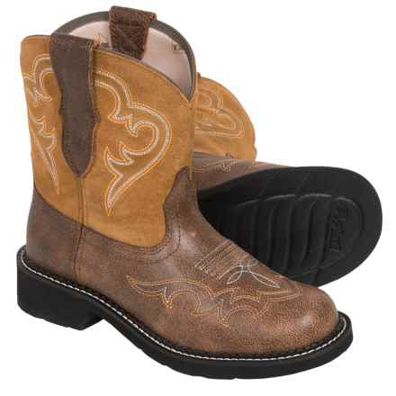 Ariat Fatbaby Heritage Harmony Cowboy Boots - Leather (For Women) in Vintage Bomber/Tan - Closeouts