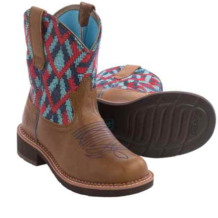 "Ariat Fatbaby Heritage Vivid Cowboy Boots - 8"", Round Toe (For Women) in Back Country Tan/Blanket - Closeouts"