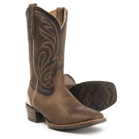 "Ariat Fire Creek Leather Boots - 12"", Square Toe (For Men) in Dark Brown"