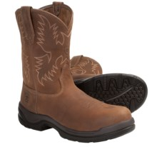 Ariat FlexPro Western Work Boots - Composite Toe, Pull-On, Round Toe (For Men) in Desert Brown - Closeouts