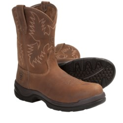 Ariat FlexPro Western Work Boots - Composite Toe, Pull-On, Round Toe (For Men) in Desert Brown