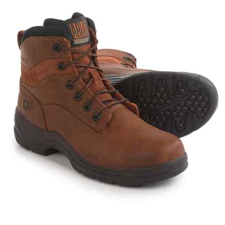 """Ariat Flexpro Work Boots - Leather, 6"""" (For Men) in Desert Brown - Closeouts"""