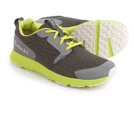 Ariat Fuse Sneakers (For Men) in Charcoal Mesh/Neon Green - Closeouts