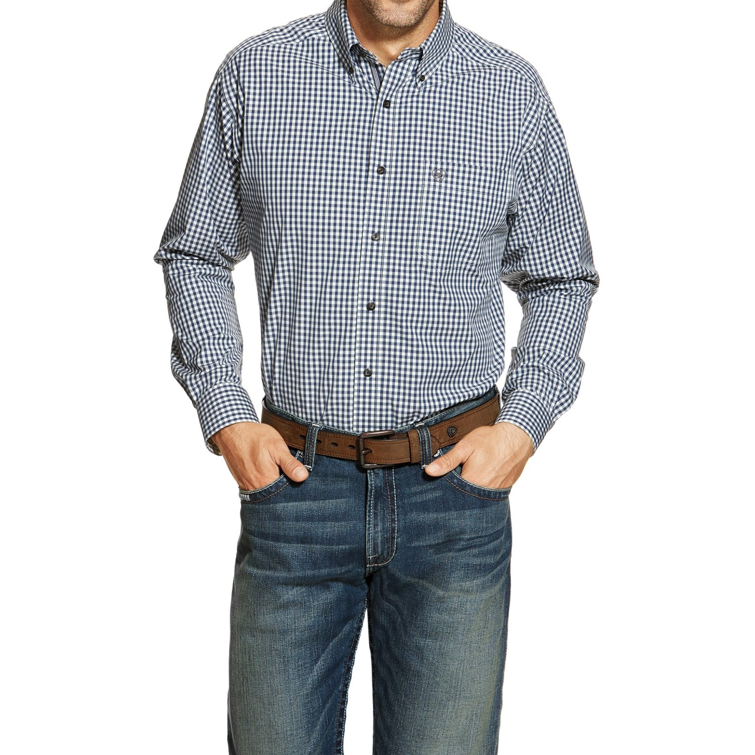 Ariat gavril high performance western shirt for men and for Mens tall western shirts