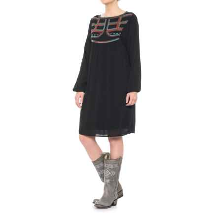 Ariat Gigi Embroidered Dress - Long Sleeve (For Women) in Black - Closeouts