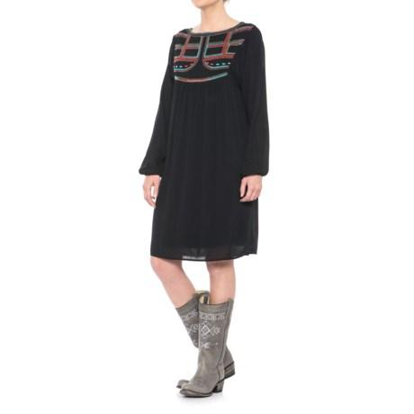 Ariat Gigi Embroidered Dress - Long Sleeve (For Women) in Black