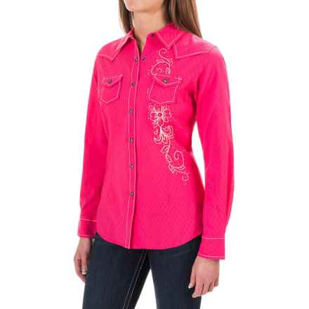 Ariat Gloria Shirt - Long Sleeve (For Women) in Reef Rose - Closeouts
