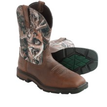 "Ariat Groundbreaker Western Work Boots - 10"", Steel Toe (For Men) in Brown/Mini Bonz - Closeouts"