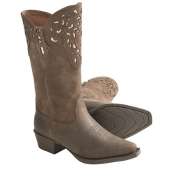 Ariat Hacienda Cowboy Boots - X-Toe (For Girls) in Distressed Brown