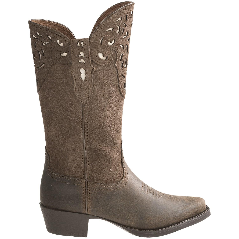 Ariat Hacienda Cowboy Boots (For Girls) 6483F - Save 77%