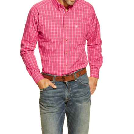 Ariat Halbert High-Performance Western Shirt - Long Sleeve (For Men) in Berry - Closeouts