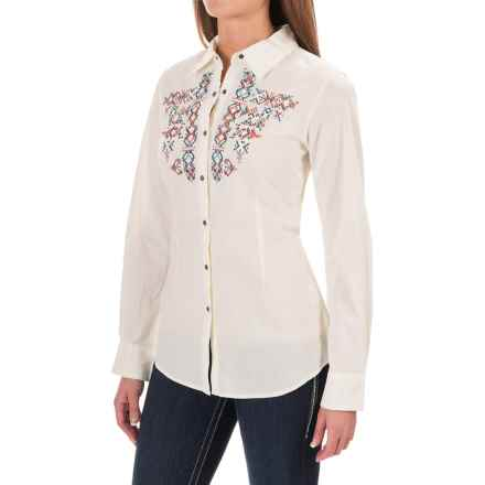 Ariat Hatch Shirt - Long Sleeve (For Women) in Ivory - Closeouts