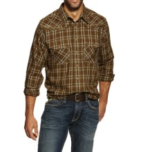 Ariat Hearne Plaid Shirt - Snap Front, Long Sleeve (For Men) in Horse Chestnut - Closeouts